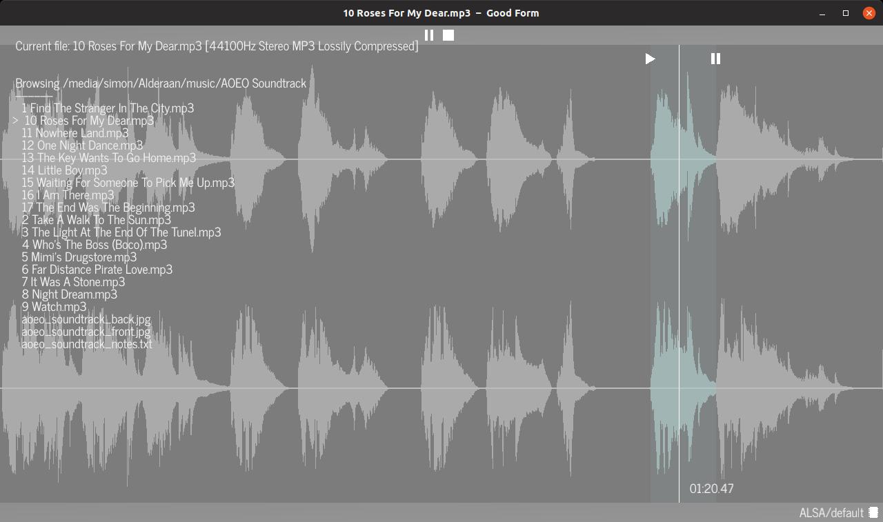 A screenshot of Good Form's interface